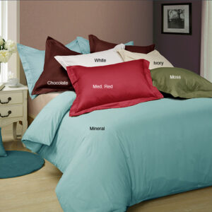 Egyptian Cotton 400 Thread Count Solid Duvet Cover Set