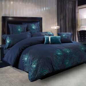 Home Apparel's Peacock Duvet Cover Set
