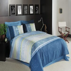 Dorotea Blue 4 Piece Duvet Cover Set