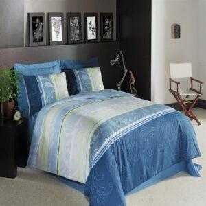 Dorotea Blue 4 Piece Duvet Cover Set