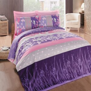 Elvira Purple 4 Piece Duvet Cover Set