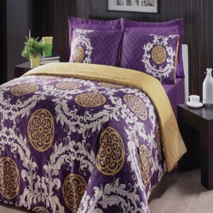Feriha Purple 6 Piece Duvet Cover Set