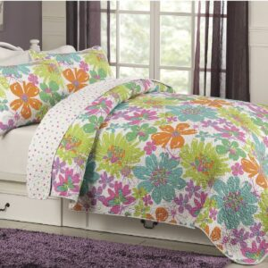 Flower Splash Floral Quilt Set